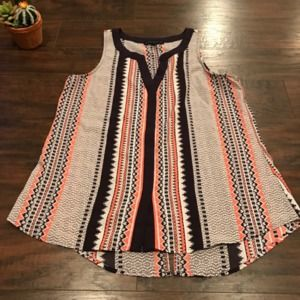 Anthropologie Sanctuary multi color striped blouse